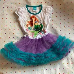 Sz S (2/4) Girls Ariel Disney Crinoline Dress